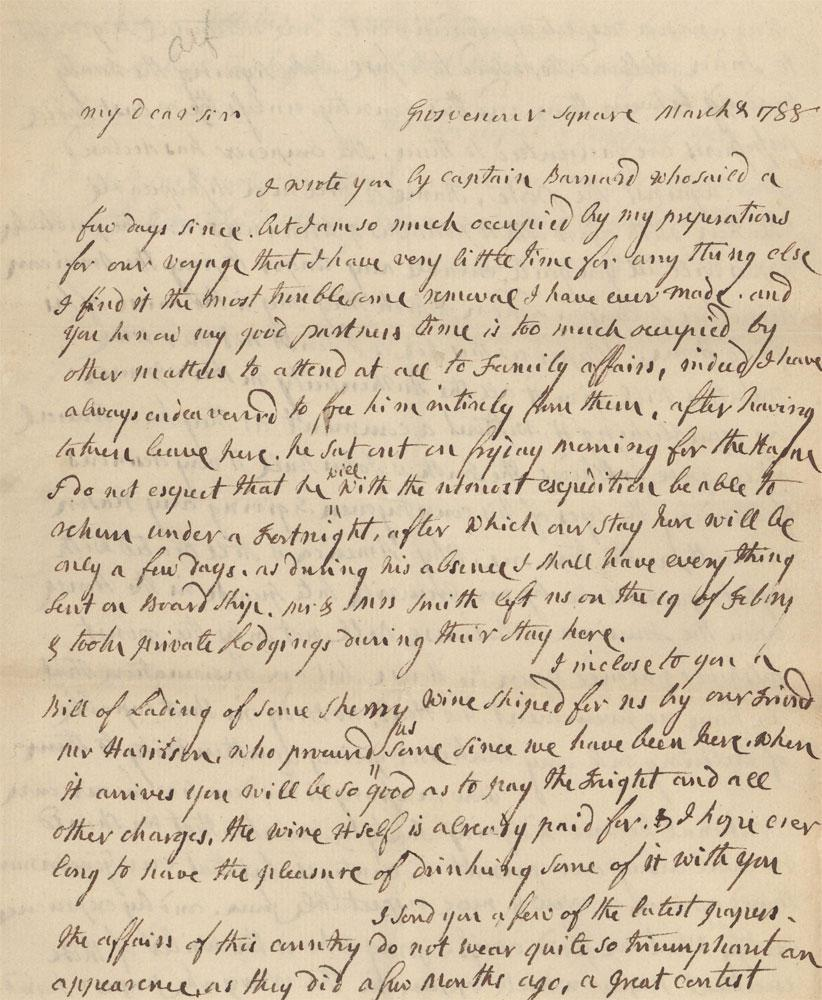 Abigail Adams Letter Discovered In Yarmouth Port   WBUR News