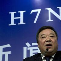 Liang Wannian, head of a Chinese government office in charge of H7N9 bird flu prevention control, attends a joint press conference by China's health officials and World Health Organization representatives in Beijing, China, Monday, April 8, 2013. (Ng Han Guan/AP)