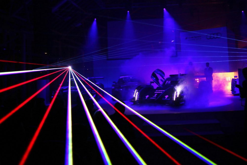 Audi's new laser headlight technology will make its way into the 2014 Audi R18 e-tron quattro race car. (Audi Sport)