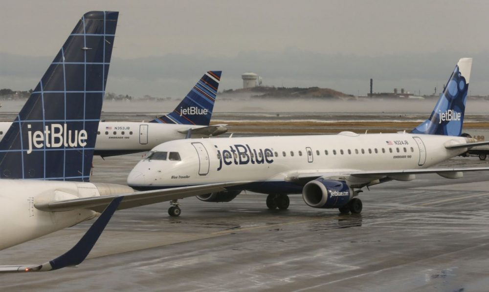 JetBlue planes at Logan Airport (Charles Krupa/AP)