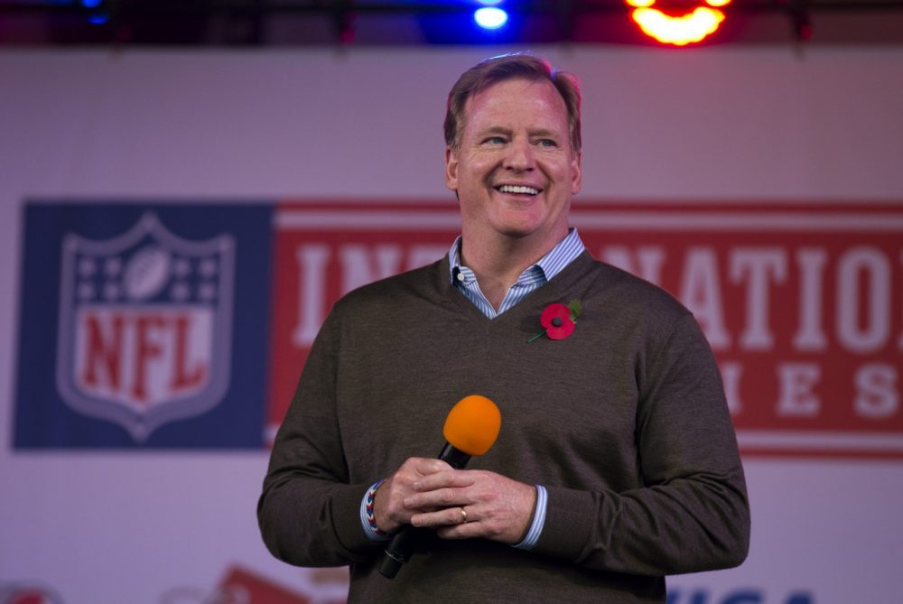 As the NFL playoffs roll towards New Jersey, commissioner Roger Goodell is once again dreaming of London...and L.A. (Matt Dunham/AP)