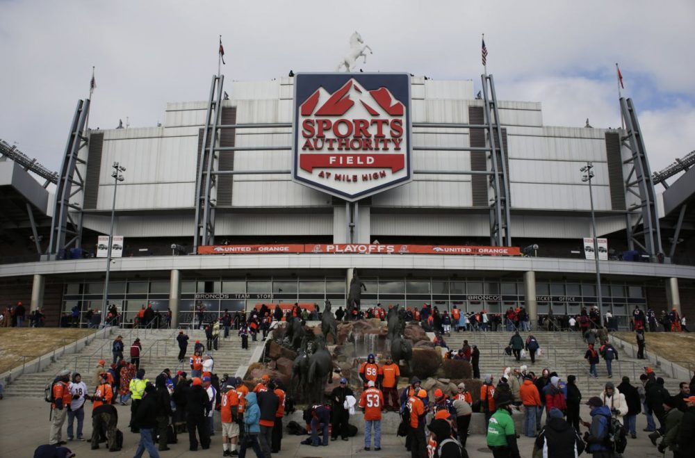 Denver's Sports Authority Field, host of Saturday's AFC Championship, is a tough place for visitors because of its noise and high altitude. (Joe Mahoney/AP)