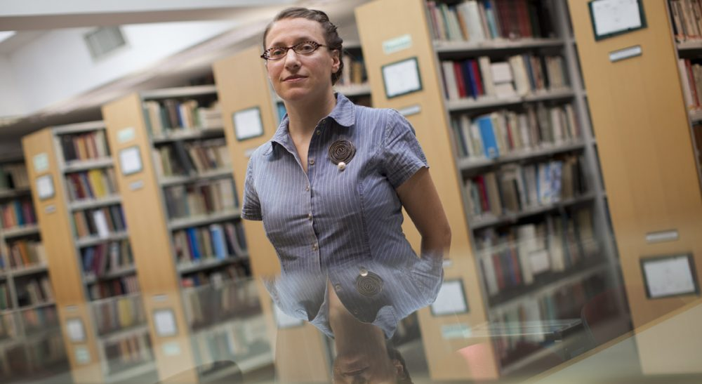 With its decision to boycott Israeli academic institutions, the American Studies Association has opened itself up to widespread criticism. In this Thursday, Sept. 6, 2012 photo, Israeli Dana Pulzer, 36, poses for a portrait at the library of the Hebrew University in Jerusalem. (Bernat Armangue/AP)