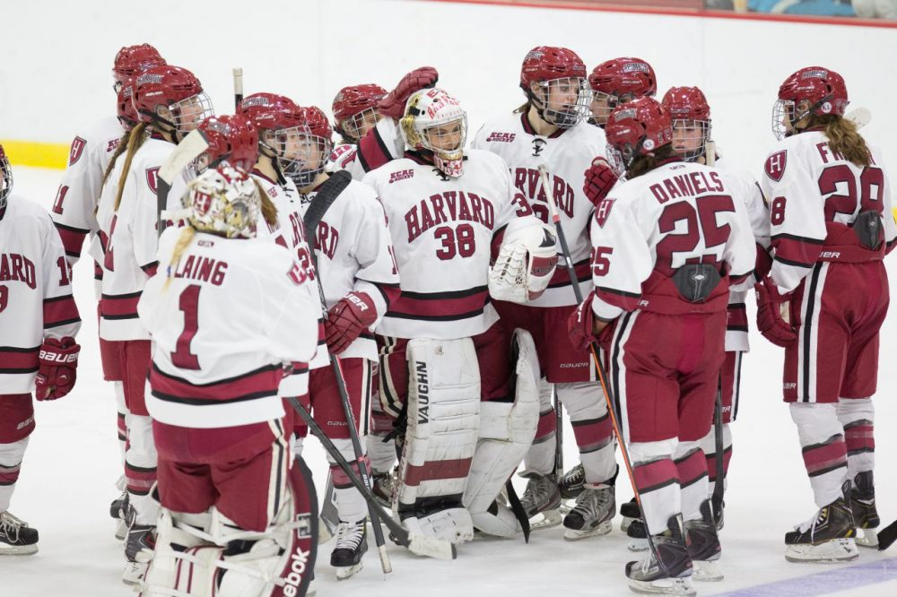 Despite losing three of its stars to the U.S. National Team for the Olympics, the Harvard women's ice hockey team is off a 18-3-3 start. (Elan Kawesch/Courtesy of Harvard Athletics)