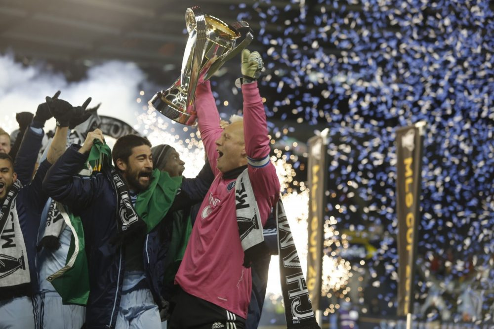 Sporting KC won the MLS Cup last year, but this year they'll have to do without Jimmy Neilsen (1). (Ed Zurga/Getty Images)