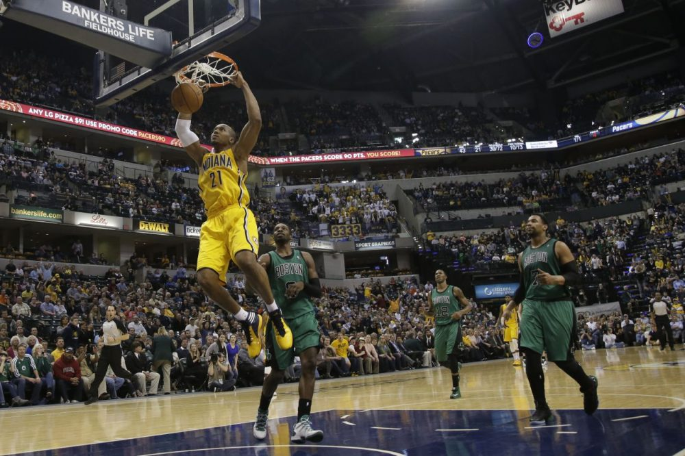 Indiana Pacers forward David West (21) in action during the second half.(AP/AJ Mast)