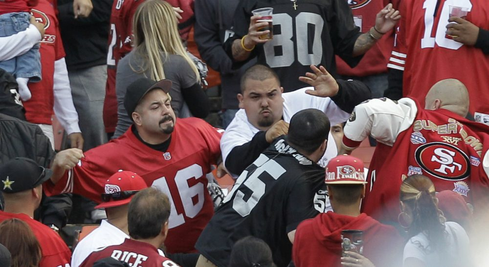 the psychology of violence in sports on the field and in the  in this aug 20 2011 photo football fans fight in the stands during