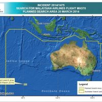 This map from the Australian Maritime Safety Authority shows the area where the search for Malaysia Airlines Flight 370 has now concentrated. (Australian Maritime Safety Authority)