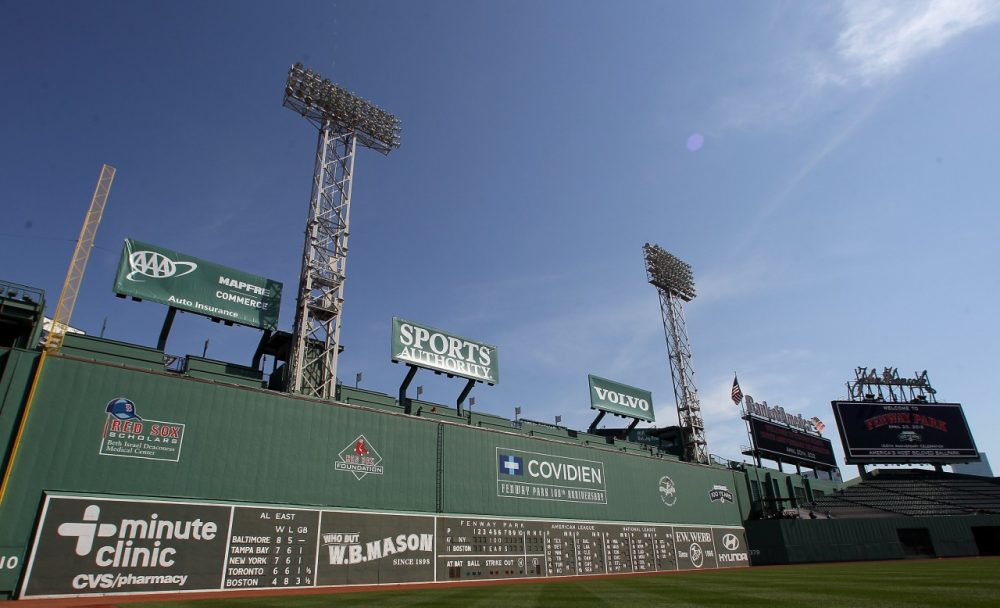 Although not shown in this picture, the Green Monster now features a logo for Foxwoods Casino. (Elsa/Getty Images)