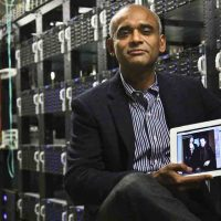 In this Thursday, Dec. 20, 2012, file photo, Chet Kanojia, founder and CEO of Aereo, Inc., shows a tablet displaying his company's technology, in New York. Aereo is one of several startups created to deliver traditional media over the Internet without licensing agreements. (AP)