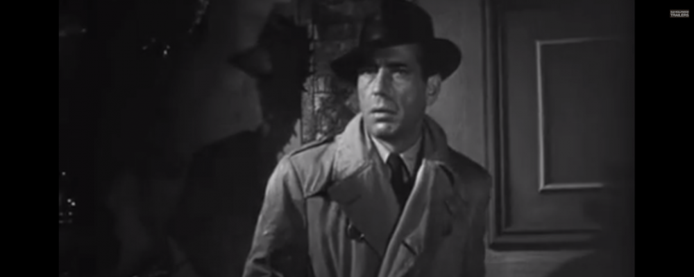 "Humphrey Bogart in ""The Big Sleep."" (Warner Brothers/YouTube)"