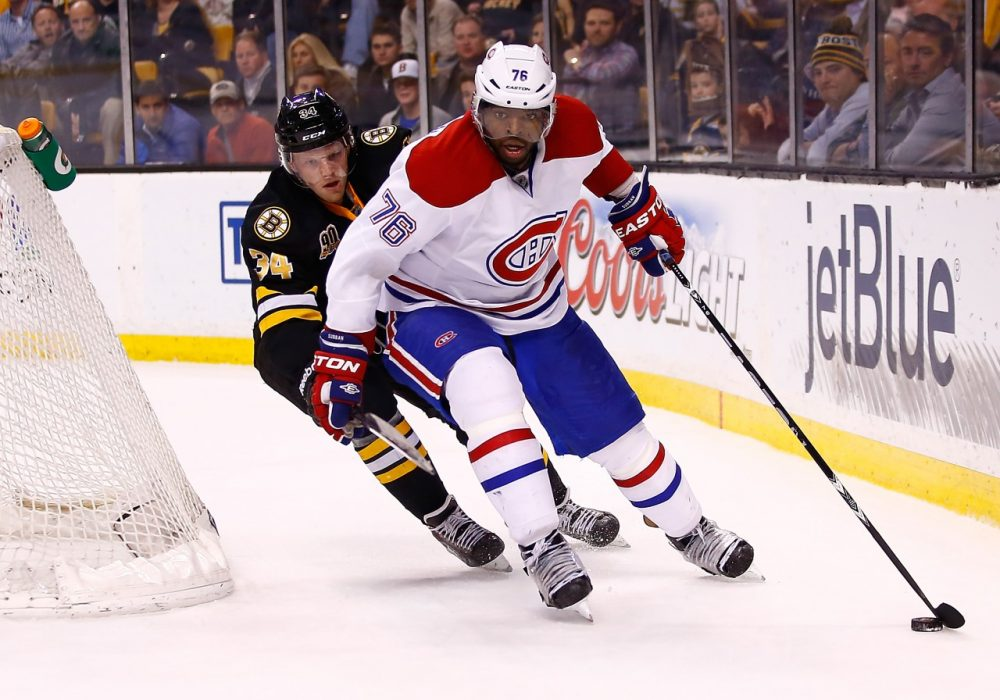 The series between the Bruins and Canadiens will likely be rough. (Jared Wickerham/Getty Images)