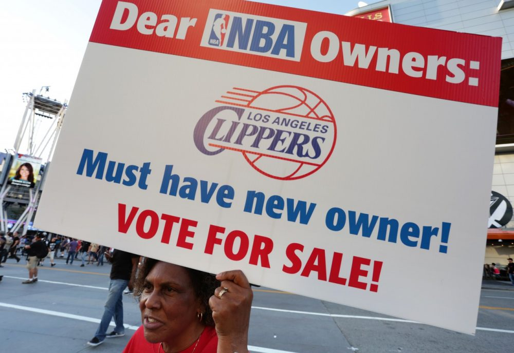 Many are calling for the NBA to force Sterling to sell the Clippers. (Jonathan Alcorn/Getty Images)