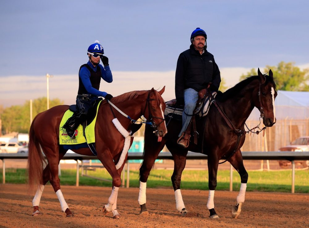 Steve Asmussen has been seen around the Kentucky Derby amid the controversial PETA video. (Jamie Squire/Getty Images)