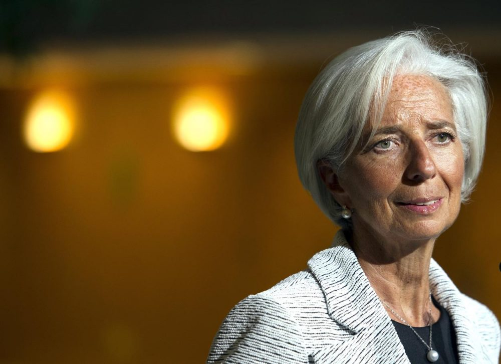 Christine LaGarde, the managing director of the International Monetary Fund. (Cliff Owen/AP)