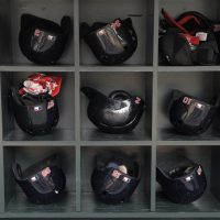Boston Red Sox' helmets and batting gloves await the players and the start of a baseball game against the Minnesota Twins in Minneapolis, Thursday, May 15, 2014. (Tom Olmscheid/AP)