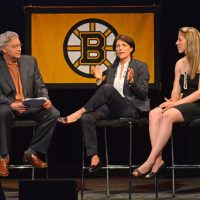 Bill Littlefield talks with pioneering women's hockey coach Digit Murphy and U.S national team captain  Meghan Duggan about the evolution of their sport. (Robin Lubbock/Only A Game)