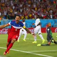 Clint Dempsey's goal 30 seconds into the United States' match against Ghana was the fifth-fastest in World Cup history. The U.S. won 2-1.(Michael Steele/Getty Images)