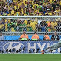 Since 1966, players have scored on x percent of penalty kicks at the World Cup. Is it time to make them harder? (Vanderlei Almeida/AFP/Getty Images)