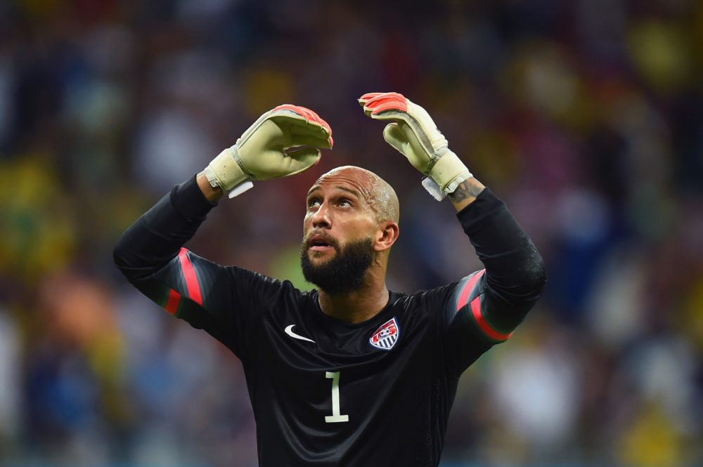 Tim Howard made 16 saves, a World Cup record, in the U.S's 2-1 loss to Belgium. (Jamie McDonald/Getty Images)
