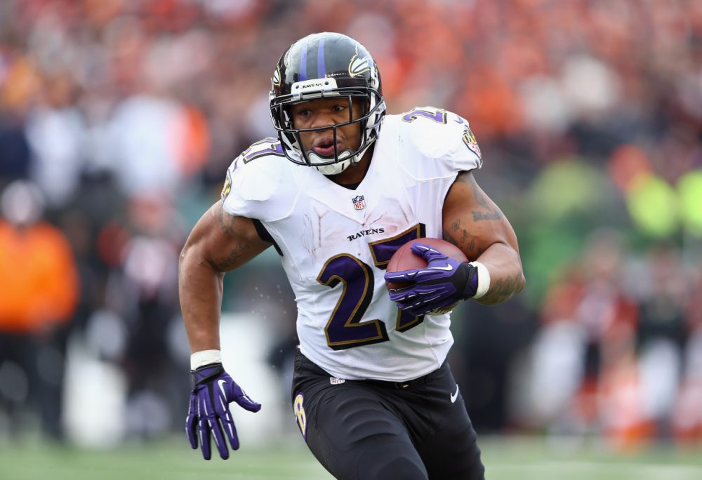 Baltimore Ravens wide receiver Ray Rice will return to the field on September 21, after serving a two game suspension. (Andy Lyons/Getty Images)