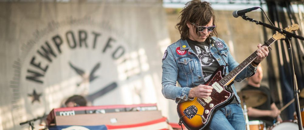Ryan Adams performs at the Newport Folk Festival. (NPR Music)