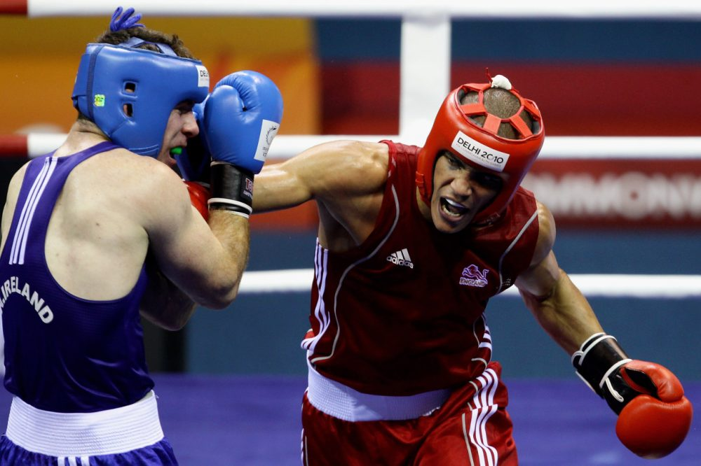 Head guards like these are a thing of the past for male boxers at the Commonwealth Games after a 2013 rule change that will also affect the Olympics. (Matt King/Getty Images)