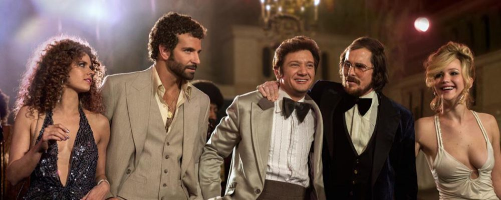 "From left, Amy Adams, Bradley Cooper, Jeremy Renner, Christian Bale and Jennifer Lawrence in a scene from ""American Hustle."" (AP/Sony)"