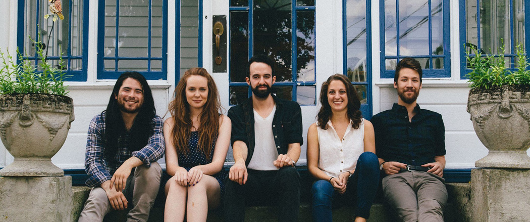 From left: Danny Hoshino, Sarah Grella, Daniel Radin, Elena Bonomo, James Parkington