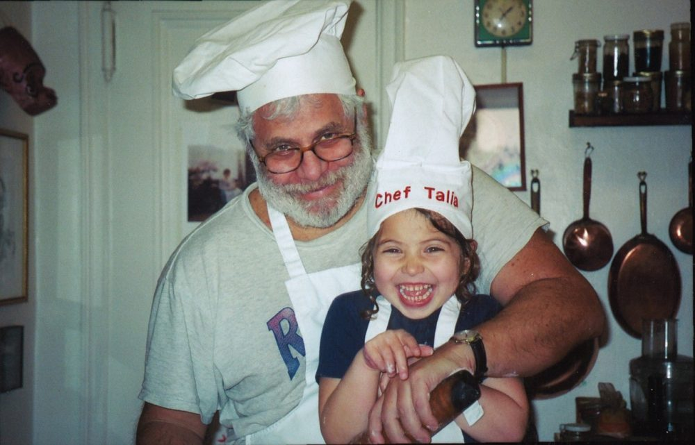 "Mark and Talia Kurlansky in the kitchen -- Talia is now in 9th grade and the two are out with their first cookbook, ""International Night."" (Courtesy Bloomsbury)"