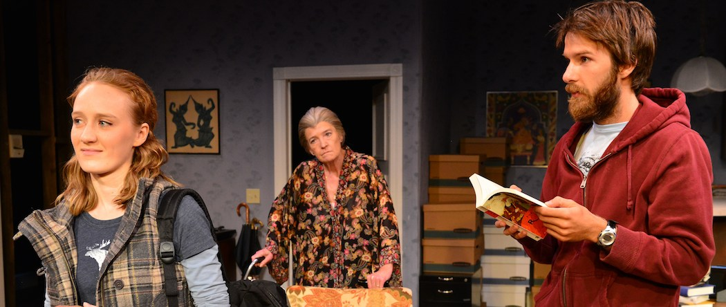 "Sarah Oakes Muirhead, Nancy J. Carroll and Tom Rash in ""4000 Miles"" at Gloucester Stage Company. (Gary Ng)"