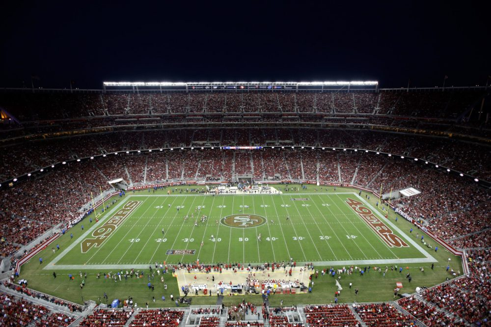 Fans packed into Levi's Stadium for Sunday night's Bears - 49ers game but even more watched from home. (Ezra Shaw/Getty Images)