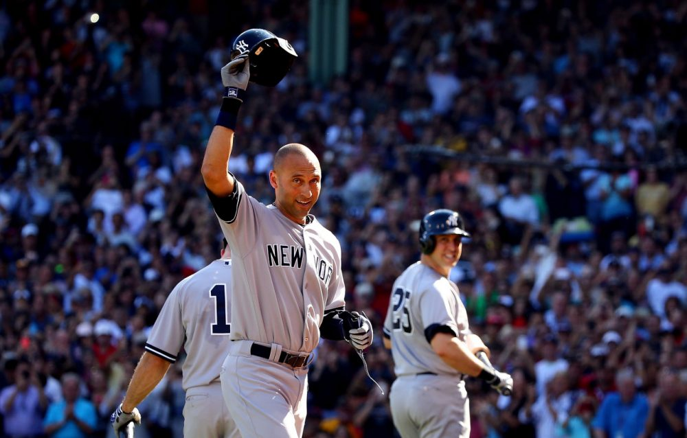 Derek Jeter left the game after hitting an infield single in the top of the third. (Al Bello/Getty Images)