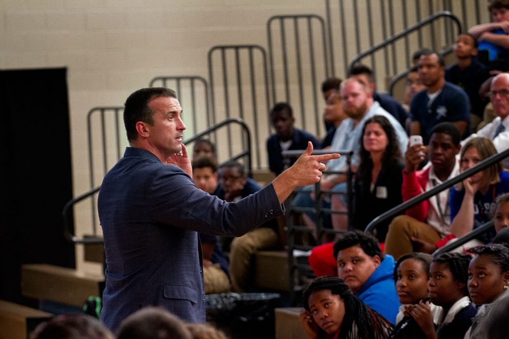Addiction destroyed Chris Herren's basketball career. That downfall is the basis for his second career as a public speaker. (Jesse Costa/Only A Game)