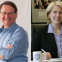 Democratic Congressman Gary Peters and Michigan's former secretary of state Terri Lynn Land are vying for the Senate seat being vacated by Carl Levin. (petersformichigan.com / State of Michigan)