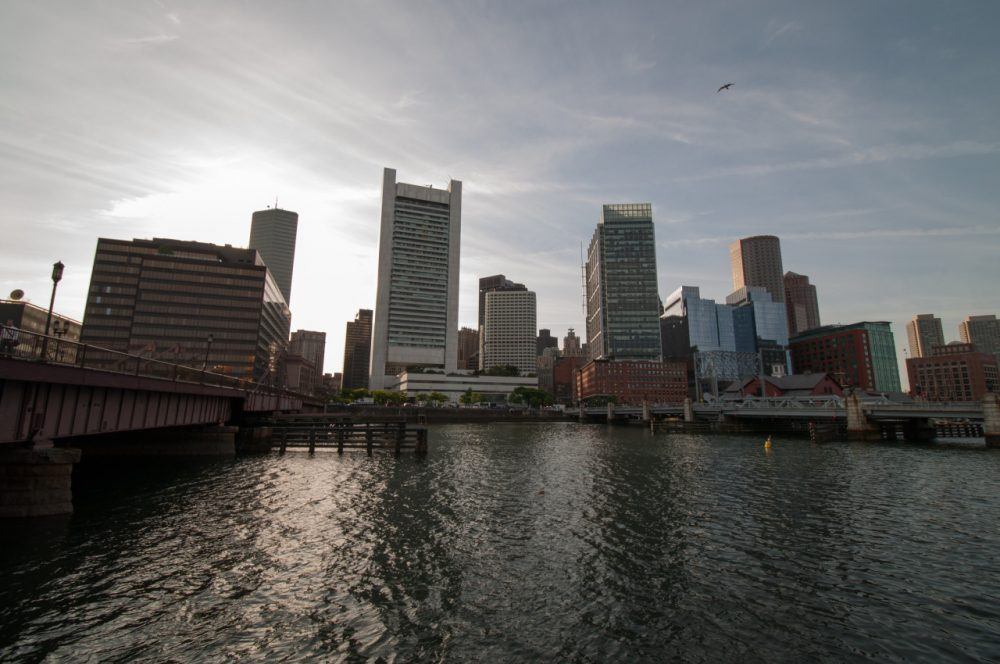 Boston skyline at Fort Point Channel (matthrono/Flickr)