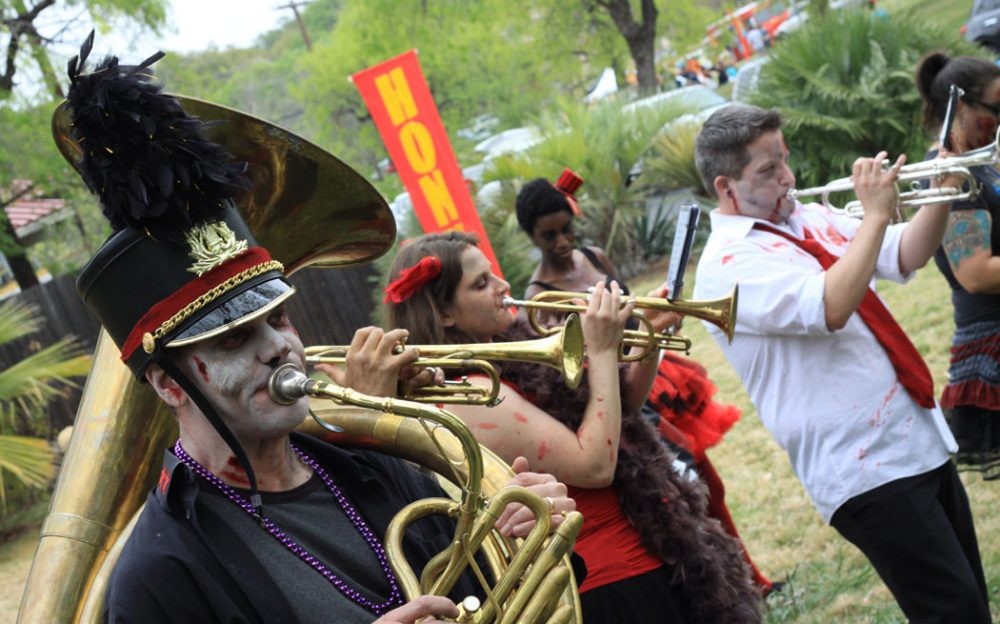 Dead Music Capital Band performs at Honk TX in 2013. (Courtesy Mike Antares)