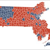 Massachusetts Election Results How Your Town Or City Voted - Mass map