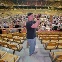 In 1997, fans got a last chance to go inside the old Boston Garden, but the famed Celtics parquet floor had left the building for the last time in 1995.  (Jim Rogash/AP)