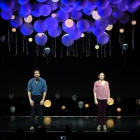 "Actors Jake Gyllenhaal and Ruth Wilson star in ""Constellations"" at Samuel J. Friedman Theatre on January 13, 2015 in New York City. (Andrew H. Walker/Getty Images)"