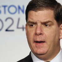 Boston Mayor Marty Walsh speaks during a news conference in Boston Friday, Jan. 9, 2015 after Boston was picked by the USOC as its bid city for the 2024 Olympic Summer Games. (Winslow Townson/AP)