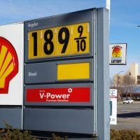 A sign shows the price of gasoline at a Shell station near downtown Detroit on Thursday, Jan. 1, 2015. AAA Michigan said that the average cost of self-serve unleaded gasoline in the state was $1.97 a gallon, the first time the price has fallen below $2 a gallon since March 2009 and down 9 cents since the beginning of the week.  (AP)