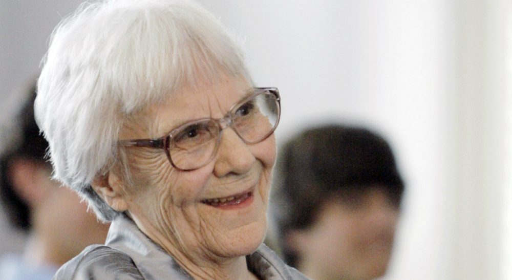 "In this Aug. 20, 2007 file photo, ""To Kill A Mockingbird"" author Harper Lee smiles during a ceremony honoring the four new members of the Alabama Academy of Honor, at the state Capitol in Montgomery, Ala. (Rob Carr/AP)"