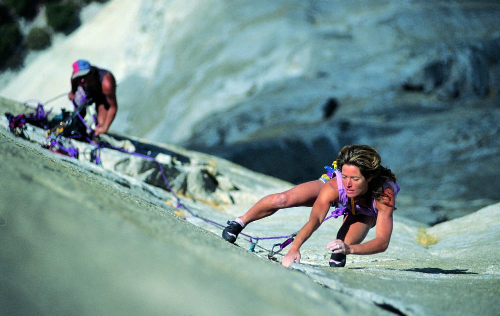 Lynn Hill climbs the Nose route of El Capitan in Yosemite National Park. The route was once considered impossible to climb. (lynnhillclimbing.com)