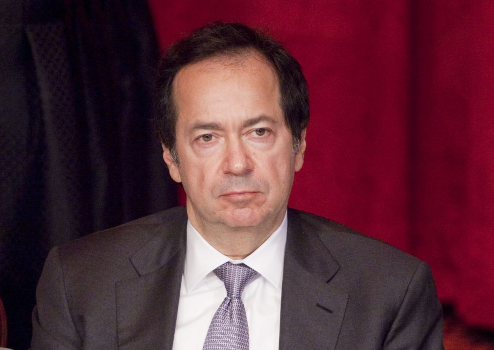 John Paulson, seen here in a 2011 photo, has given Harvard its largest-ever gift, of $400 million. (Mark Lennihan/AP)