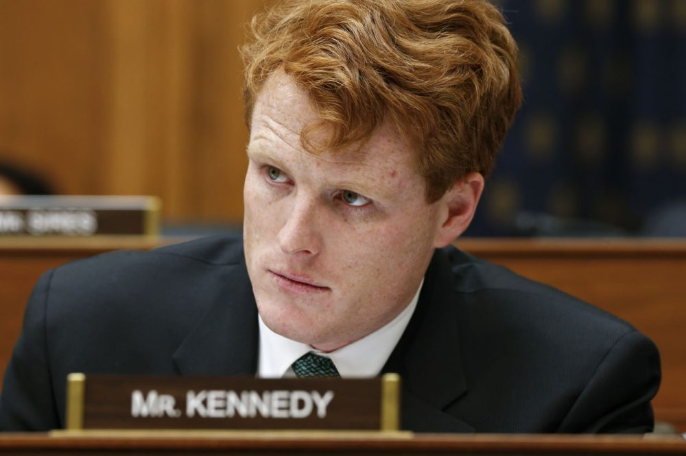 Rep. Joseph Kennedy III attends a January 2013 House Foreign Affairs Committee meeting. Colleagues describe the rookie congressmen as a hard worker who keeps his head down. (J. Scott Applewhite/AP)