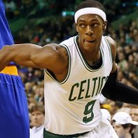 "Peter May: ""How did a player with his credentials end up signing with a horrible team whose coach will almost certainly tire of him?"" Pictured: Future Sacramento King Rajon Rondo, playing for the Boston Celtics against the New York Knicks in Boston, Friday, Dec. 12, 2014. (Winslow Townson/AP)"