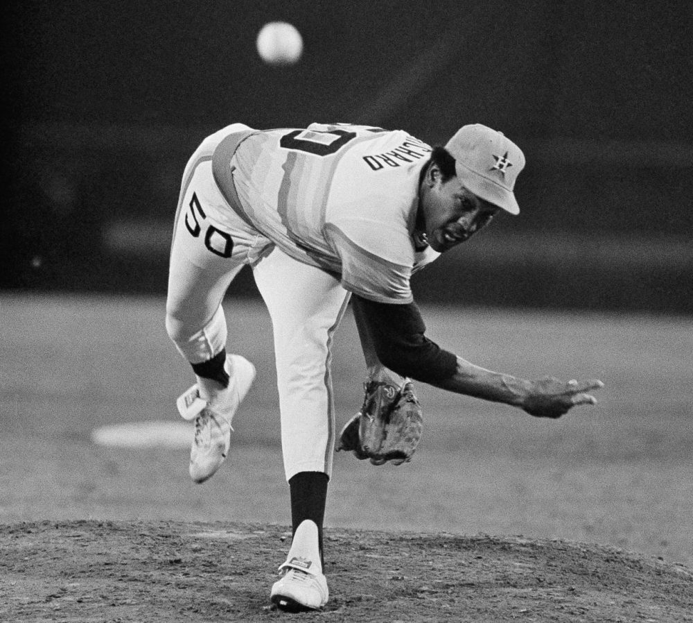 J. R. Richard played 10 seasons in the MLB, all with the Houston Astros. Twice he led the National League in strikeouts. (AP)