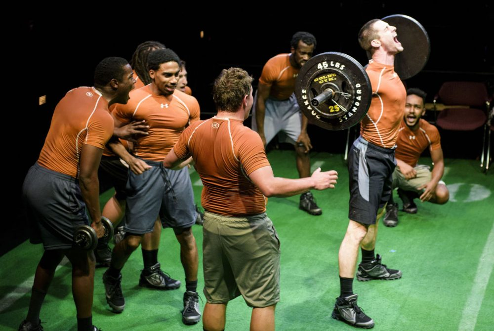 "Company One's ""Colossal""was a serious consideration of what constitutes masculinity in American culture, not to mention of the pageantry and savagery of football. (Courtesy Liza Voll/Company One)"