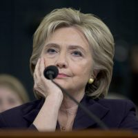 Democratic presidential candidate, former Secretary of State Hillary Rodham Clinton listens as she testifies on Capitol Hill in Washington, Thursday, Oct. 22, 2015, before the House Benghazi Committee. (AP)